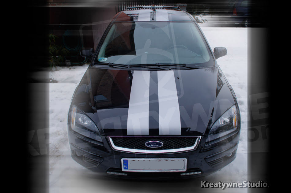 oklejenie pasy mustang ford focus